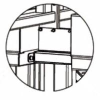 Стойка-вставка PERCo-RF01 0-02